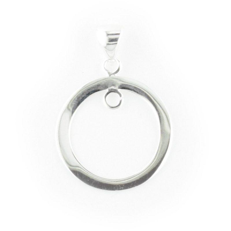 Sterling Silver Hoop Pendant with Loop