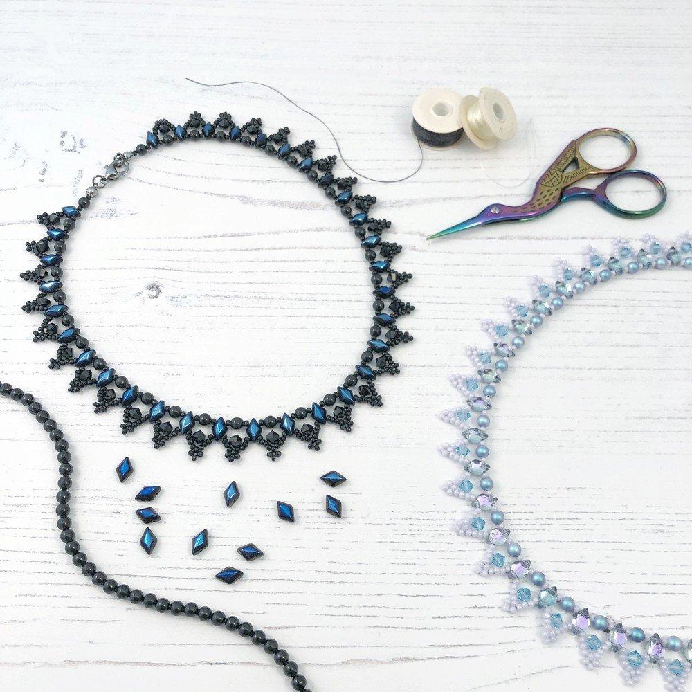 Swarovski Netted Lace Necklace