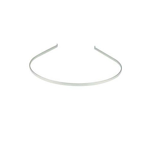 Small Plain Head Band Silver Plated