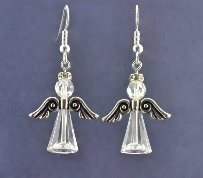 Crystal Angel Earring Kit Silver Plated