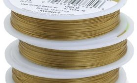 Beadalon 7 Strand 9.2m (30ft) Satin Gold