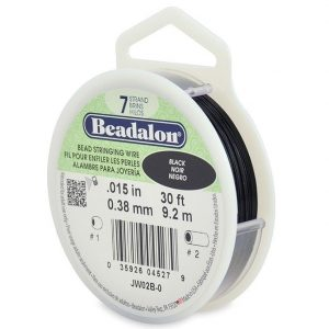 Beadalon 7 Strand 9.2m (30ft) Black