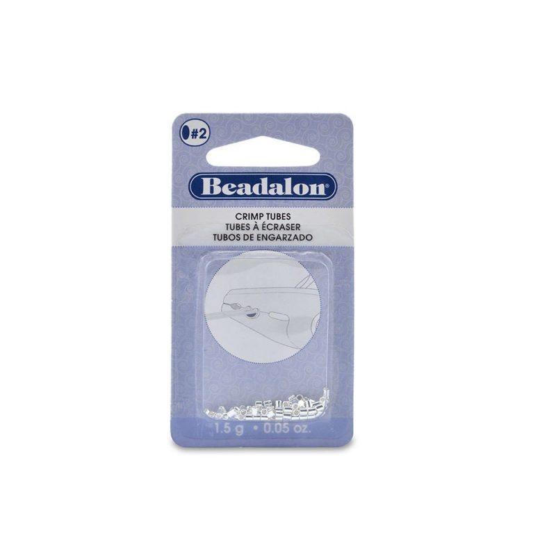 Beadalon Silver Plated Size 2 Crimp Tube