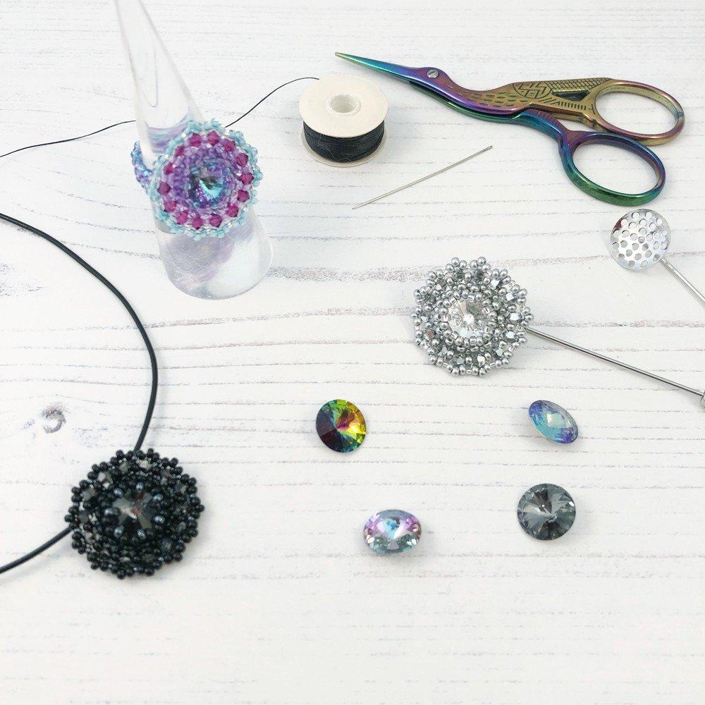 bezel beading jewellery making class