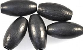 black oval wooden beads made in Europe