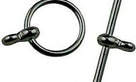 Toggle clasp black plated