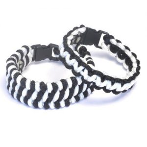 Paracord Bracelets Kit Black and White