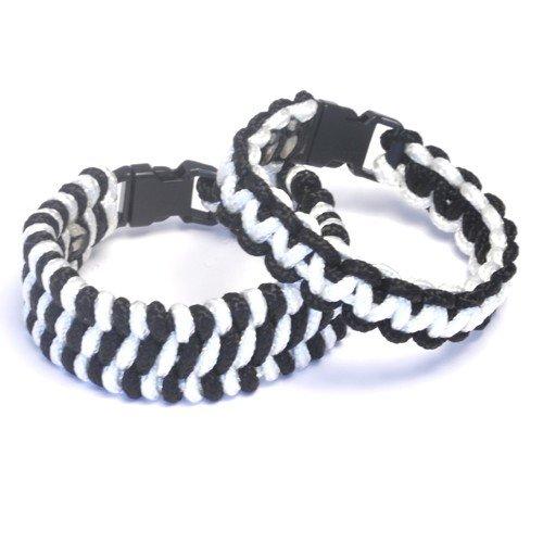 Paracord Bracelets Kit Black and White