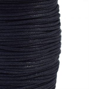 2mm wax cotton cord blue