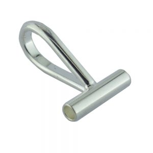 Brooch to Pendant Horizontal Converter Silver Plated