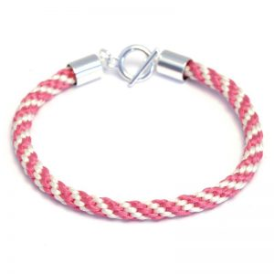 Kumihimo Bracelet Kit Cream/Pink