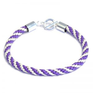 Kumihimo Bracelet Kit Cream/Purple