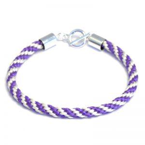 Kumihimo Bracelet Kit Cream/Purple