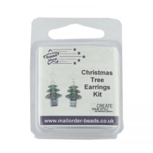 Christmas Tree Earrings Kit Emerald & Siam