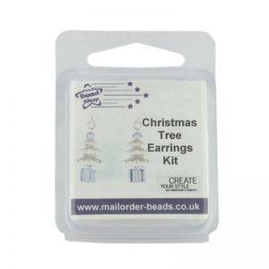 Christmas Tree Earrings Kit Crystal & Tanzanite