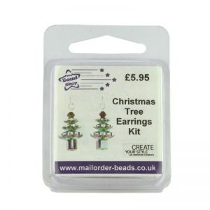 Christmas Tree Earrings Kit Vitrail Medium