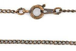 18 inch Curb Chain Antique Copper Plated