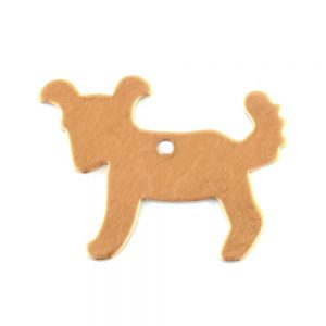 Efco Dog Shaped Pendant Copper Blank