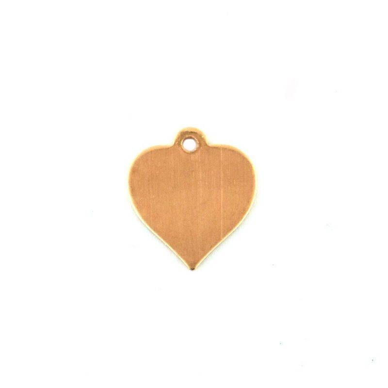 Efco Heart Shaped Copper Blank Pendant
