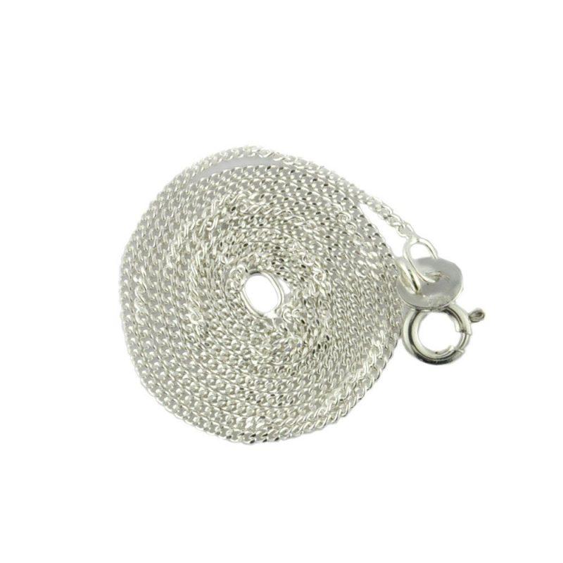 Sterling Silver Diamond Cut Curb Chain 16 inch