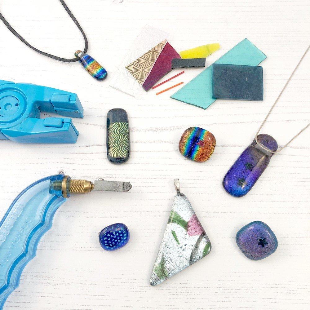 Dichroic glass jewellery workshop