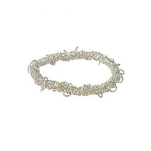 Elasticated Charm Bracelet Silver Plated