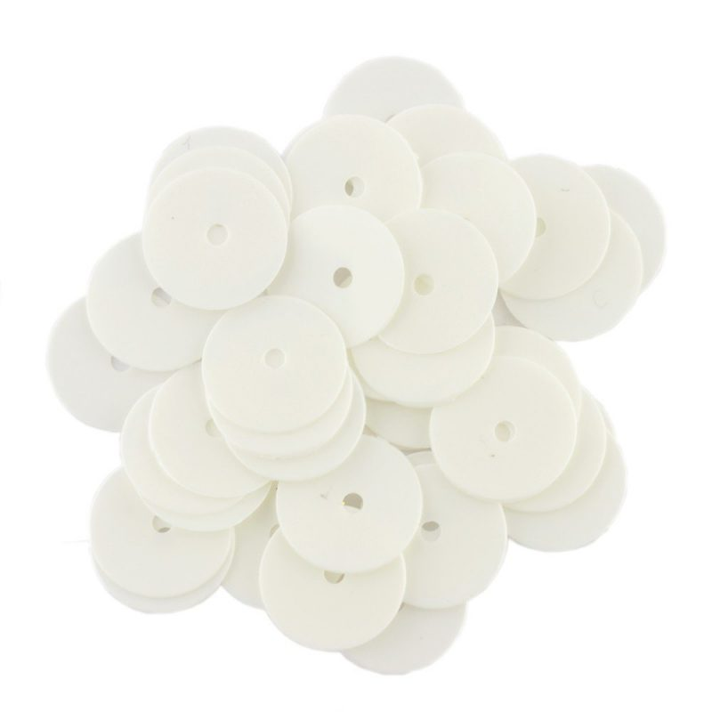 8mm Flat Round Sequins 1030 Opaque White