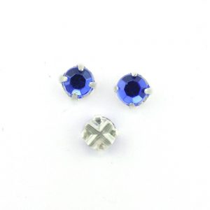 5mm Sew On Crystals 6655 Sapphire