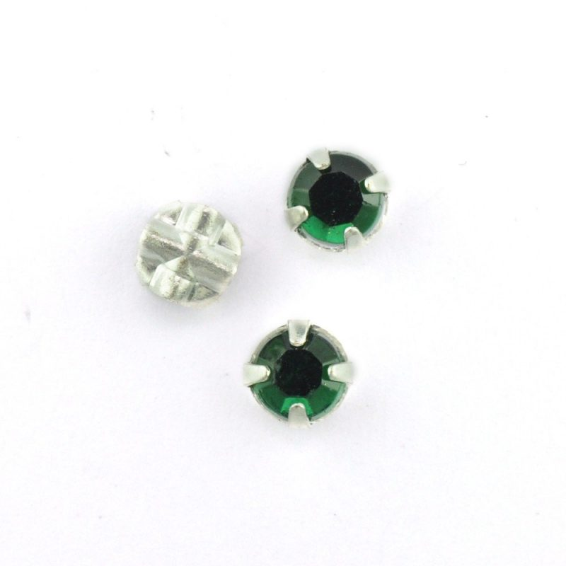 5mm Sew On Crystals 7300 Emerald