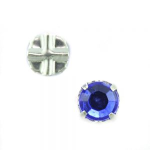 7mm Sew On Crystals 6655 Sapphire*
