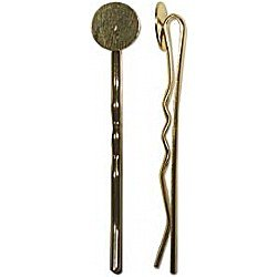 Hair Grip with 10mm Plate Gold Plated