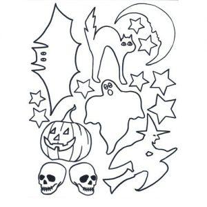 Halloween pre-printed Shrink Plastic Sheet