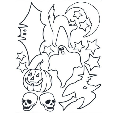 Halloween pre-printed Shrink Plastic Sheet