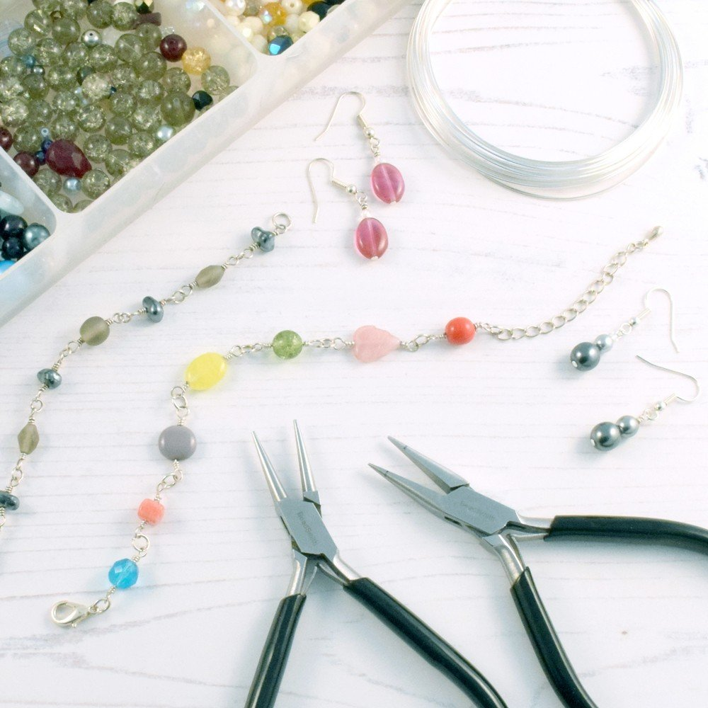 making jewellery from beads and wire