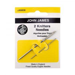 john james 2 knitters needles