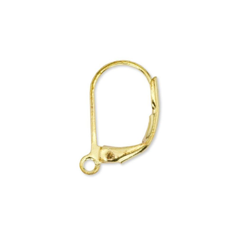 Lever Back Ear Wires Gold Plated