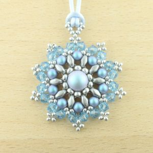 Mandala Pendant Necklace Kit - Ice
