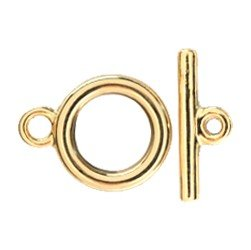 Toggle Clasp Medium with T-Bar Gold Plated