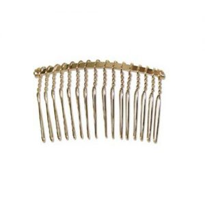 Wrapped Haircomb Gold Plated