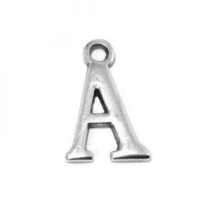 metal letter pendant charm