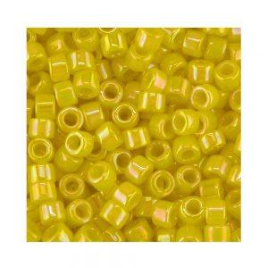 Miyuki Delica Size 11 DB160 Opaque Yellow AB
