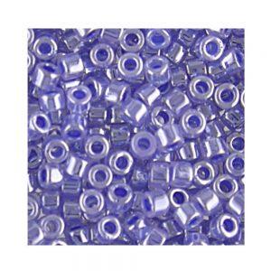Miyuki Delica Size 11 DB243 Lined Crystal Medium Blue