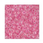 Miyuki Delica Size 11 DB245 Lined Crystal Medium Pink