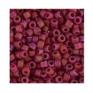 Miyuki Delica Size 11 DB362 Matte Red AB