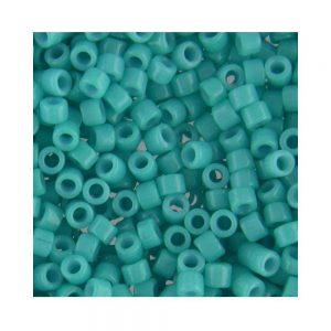 Miyuki Delica Size 11 DB658 Dyed Opaque Turquoise Green