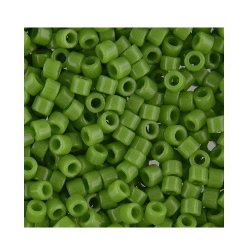 Miyuki Delica Size 11 DB724 Opaque Pea Green