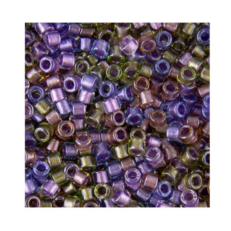 Miyuki Delica Size 11 DB986 Lined Purple/Bronze Mix