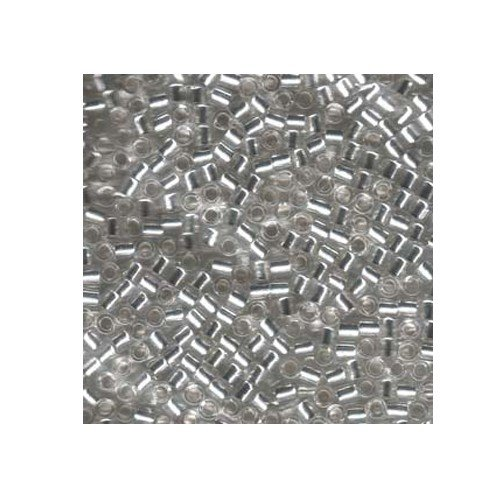 Miyuki Delica Size 8 DBL041 Silver Lined Crystal