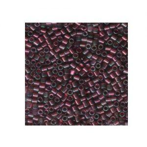 Miyuki Delica Size 8 DBL105 Transparent Dark Red Lustre