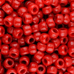 The beadery plastic craft pony beads opaque red